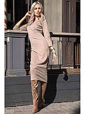 Удлиненное трикотажное платье, фото 2