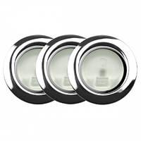 Точечный светильник // Lumine / галогеновый / круглый / хром / P= 20W / белый дневной