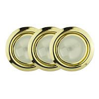 Точечный светильник // Lumine / галогеновый / круглый / золото / P= 20W / белый дневной