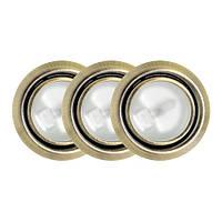 Точечный светильник // Lumine / галогеновый / круглый / матовое золото / P= 20W / белый тёплый