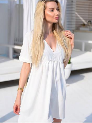 Белое платье свободного кроя, фото 2