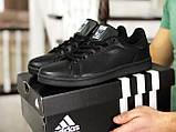 Кроссовки мужские Adidas Stan Smith,черные, фото 2