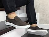 Стильные мужские кожаные мокасины (туфли) Levis,темно коричневые, фото 4