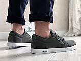 Мужские кроссовки,кеды Lacoste,текстиль,темно зеленые, фото 3