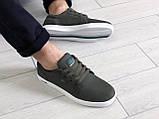 Мужские кроссовки,кеды Lacoste,текстиль,темно зеленые, фото 4