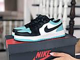 Женские кроссовки Nike Air Jordan 1 Low,белые с мятным, фото 2