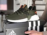 Мужские демисезонные кроссовки Adidas,текстиль,темно зеленые, фото 2