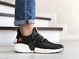Мужские демисезонные кроссовки Adidas,текстиль,темно зеленые, фото 3