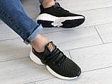 Мужские демисезонные кроссовки Adidas,текстиль,темно зеленые, фото 4