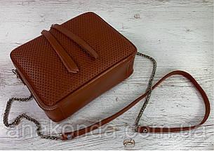 68-5 Натуральная кожа, Сумка женская кросс-боди рыжая Кожаная сумка женская из натуральной кожи рыжая, фото 2