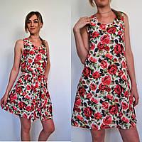 Платье-сарафан в розы размеры 42,44,46,от производителя, ОПТ/ДРОПШИППИНГ