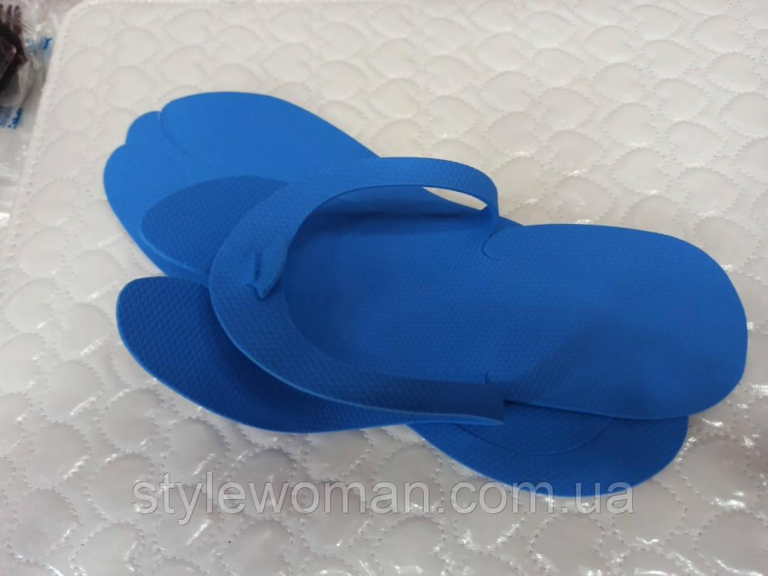Одноразові тапочки для салонів краси 2-3,5 мм жіночі 23.5 см з тисненням 0.25