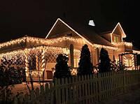 Праздничная иллюминация, новогоднее оформление магазина ресторана улиц led гирляндами