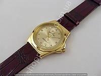 Женские часы Calvin Klein 013463 золотистые с коричневым