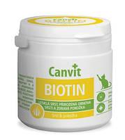Canvit Biotin Канвит Биотин здоровье кожи и блестящая шерсть для котов на каждый день 100 г