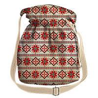 Женская сумка торба с принтом Розочка