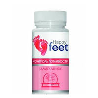 Тальк для ног Контроль потливости Happy Feet (50гр.,Украина)