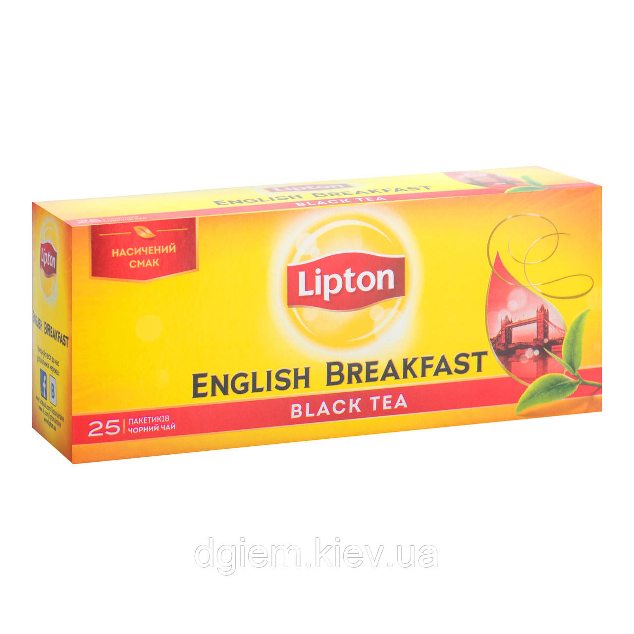 """Чай чорний ENGLISH BREAKFAST 2гх25шт """"Lipton"""", пакет"""