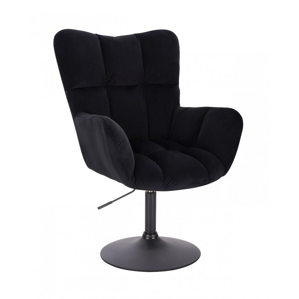 Кресло HR650N черный велюр черная основа