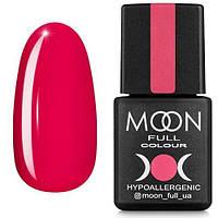 Гель-лак MOON FULL №115 розово-красный