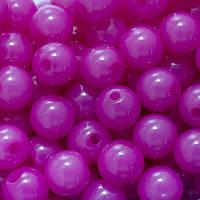 Бусины Акриловые Желейные, Круглые, Цвет: Розовый темный, Диаметр: 12мм, Отв-тие 2мм, около 52шт/50г, (УТ0005705)