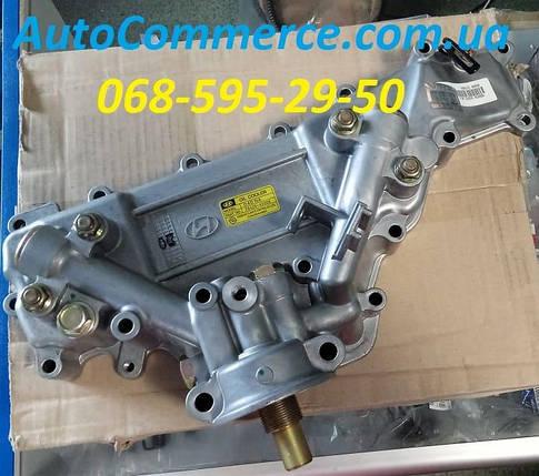 Радиатор масляный (маслоохладитель, теплообменник) Hyundai HD78, HD72 Хюндай HD (2642045006) 3.9L, фото 2