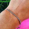 Серебряный браслет с бусинками - Сияющий женский браслет из серебра, фото 2
