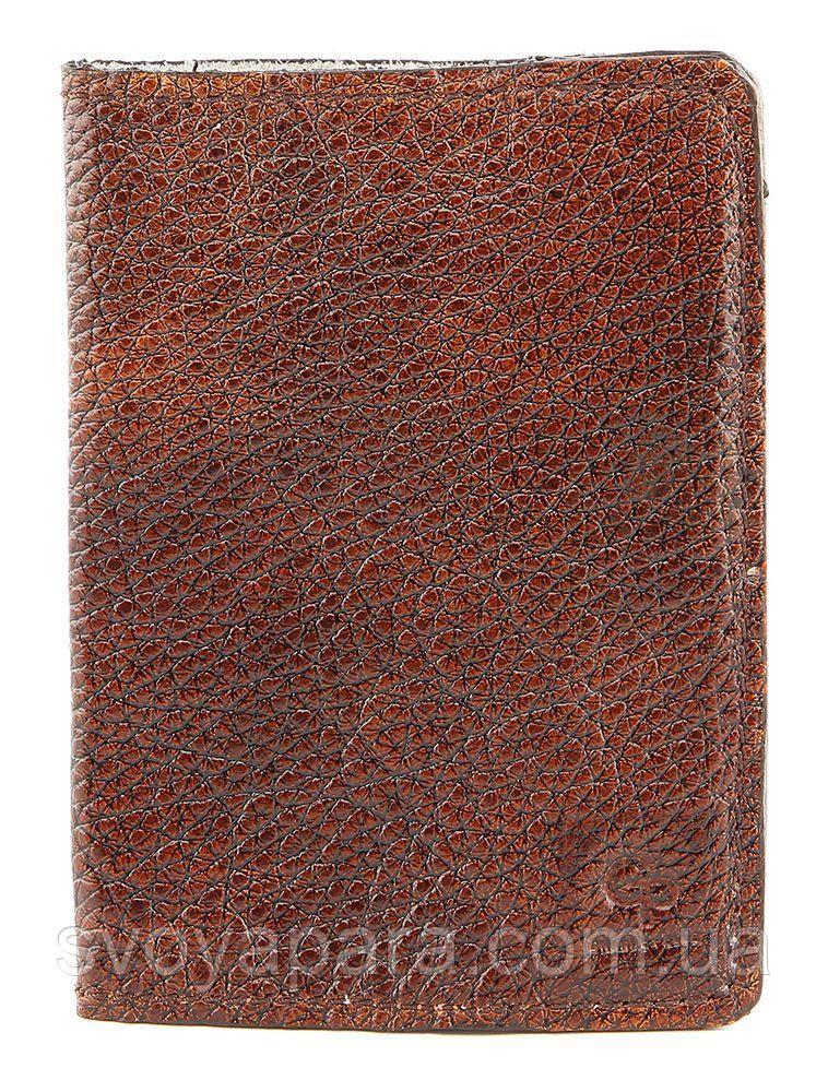 Обложка на паспорт GRANDE PELLE 00231 кожа Коричневая