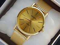 Мужские (Женские) кварцевые наручные часы Geneva на металлическом ремешке
