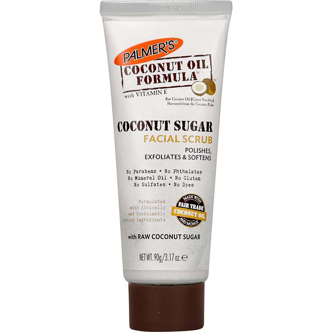 Скраб для лица с кокосовым сахаром Palmer's Coconut Sugar Facial Scrub 90 г