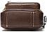 Сумка-барсетка на пояс мужская кожаная Vintage 20012 Коричневая, фото 3