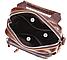 Сумка-барсетка на пояс мужская кожаная Vintage 20012 Коричневая, фото 4