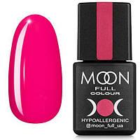 Гель-лак MOON FULL №123 розовый амарантовый