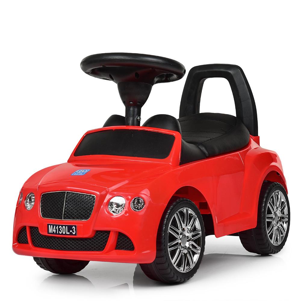 Толокар Bentley BAMBI (M4130L-3) Красный, кожанное сиденье