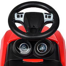 Толокар Bentley BAMBI (M4130L-3) Красный, кожанное сиденье, фото 2