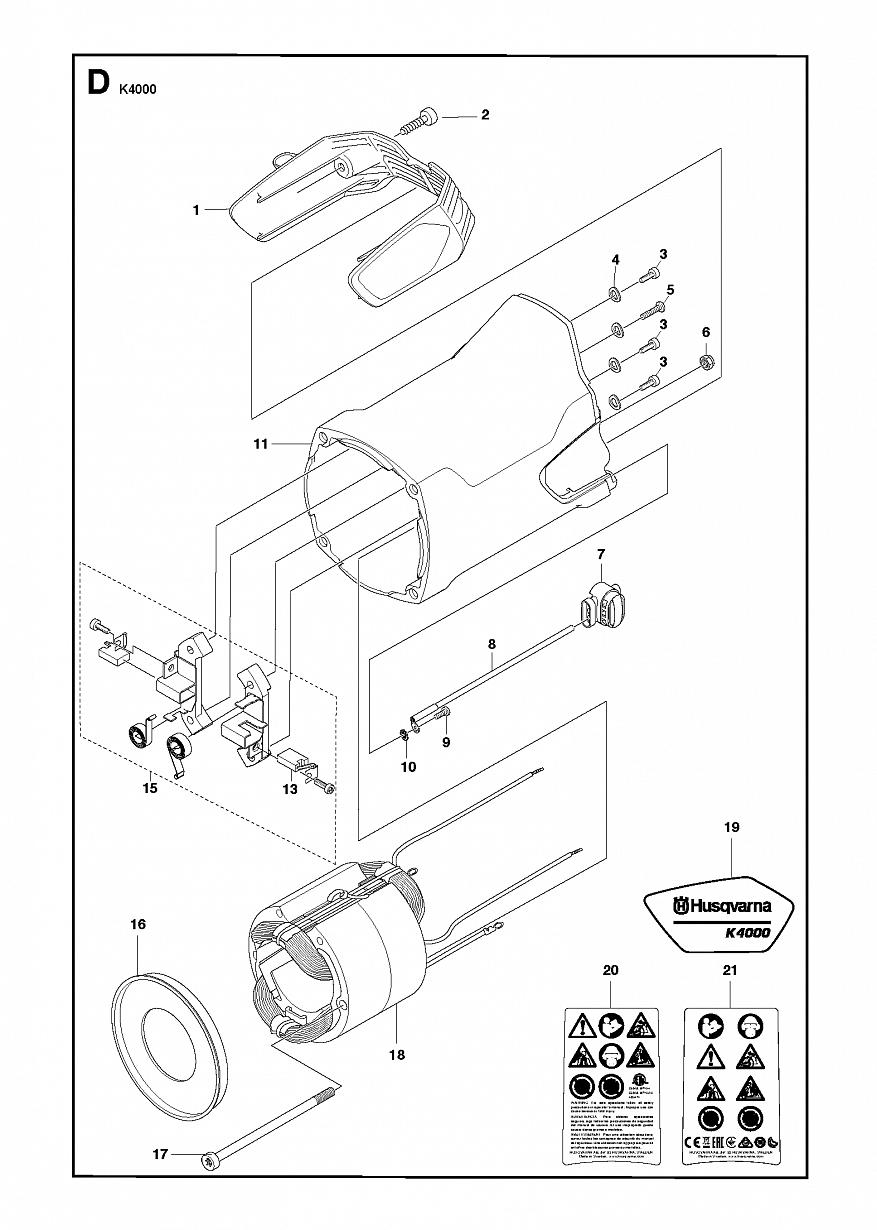 4 СТАТОР | K 4000, 2018-03 Резчик Хускварна электрический | дисковый |