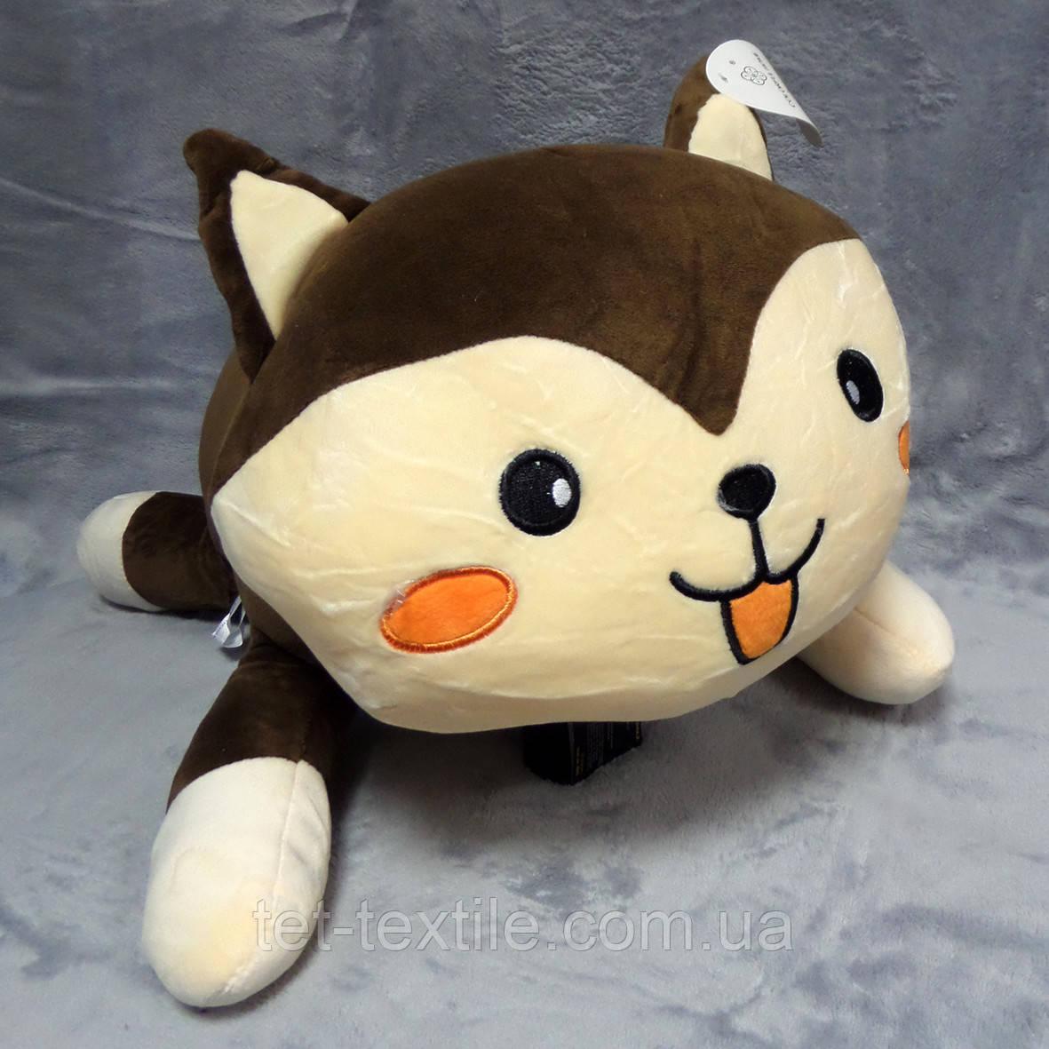 """Плед - мягкая игрушка """"Котик коричневый"""""""
