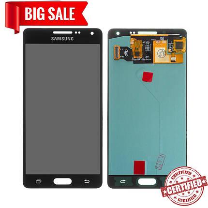 Модуль (сенсор+дисплей) для Samsung A500F, A500FU, A500H, A500M Galaxy A5 (OLED) чорний, фото 2