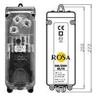Вводные щитки NTB-1,  NTB-2, NTB-3 для питающих кабелей парковых светильников ROSA