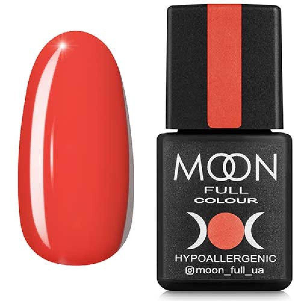 Гель-лак MOON FULL №125 оранжево-красный