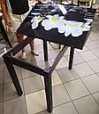 Стол кухонный Прага 90*60(120)*75см со стеклом 16-320, фото 2