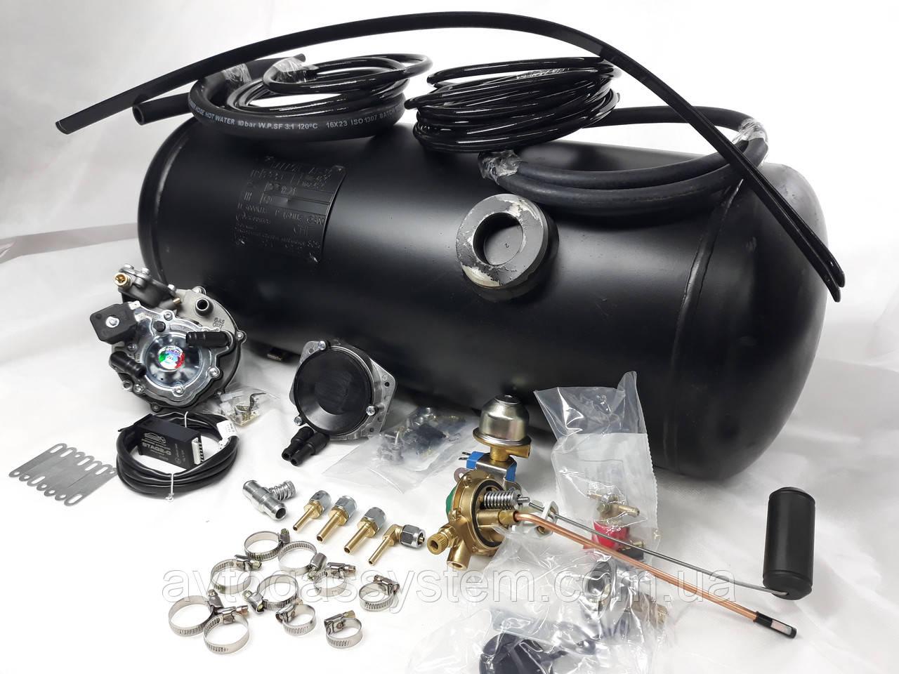 Комплект ГБО 2 поколения Yota карбюратор солекс + 30л.(под бампер)