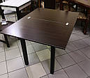 Стол кухонный Прага 90*60(120)*75см со стеклом 16-320, фото 3
