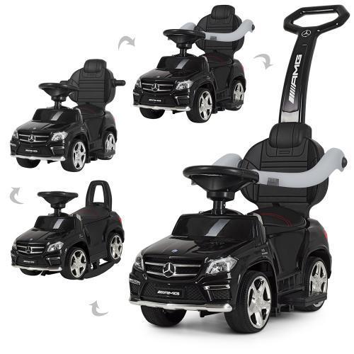 Дитяча каталка-толокар 3в1 Mercedes еко-шкіра, MP3/SD-плеєр