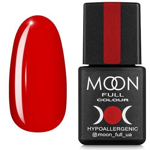 Гель-лак MOON FULL №127 красно-оранжевый темный