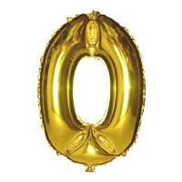 Кулька цифра золото (100см) 0,1,2,3,4,5,6,7,8,9