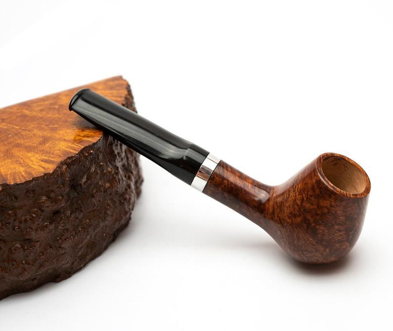 Бриаровая трубка для курения формы Volcano