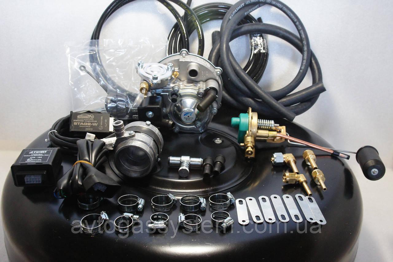 Комплект ГБО 2 поколения Tomasetto инжектор на Chevrolet Aveo (авео) с баллоном под запаску
