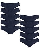 1013 Трусы для беременных танго синие комплект 10 штук, фото 1