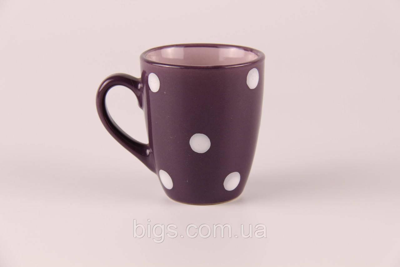 Чашечка кофейная сиреневая горошек 50 мл